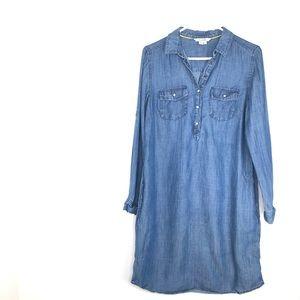 Boden Tencil Linen Denim Dress